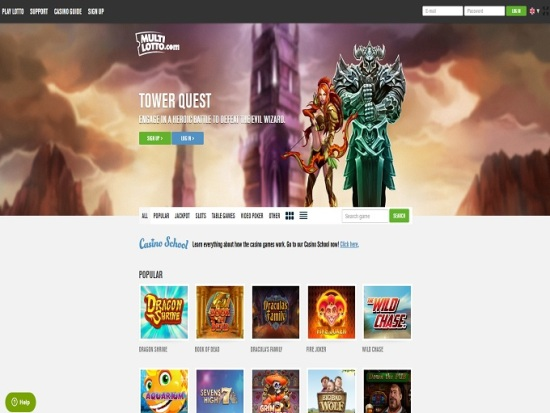 100% Casino Bonus and 10 Free Spins Added to Your Multilotto Account