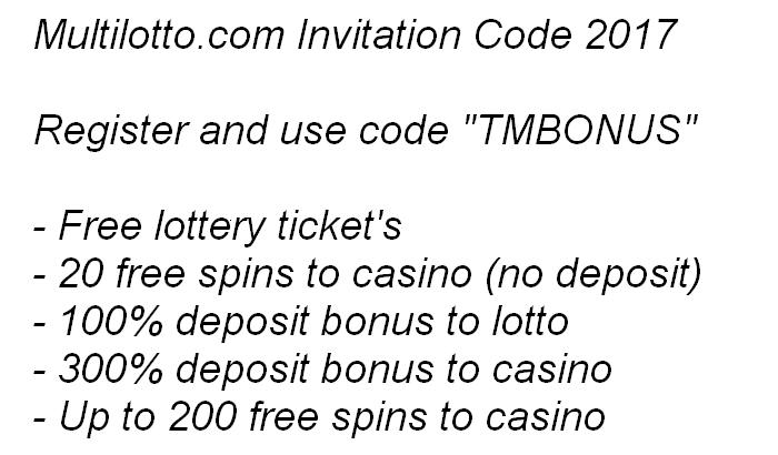 multilotto.com invitation code 2017