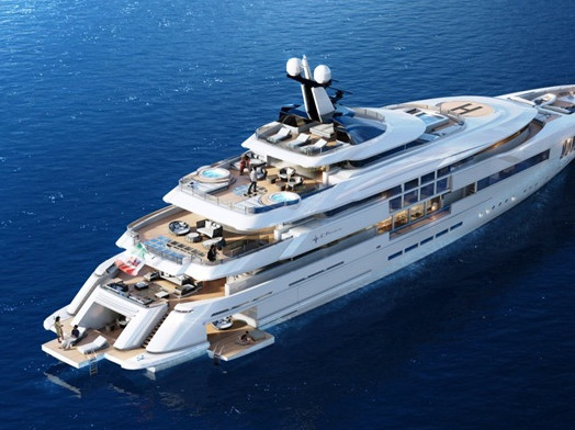 Maximize the Views of the Ocean With This €55,000,000 Yacht