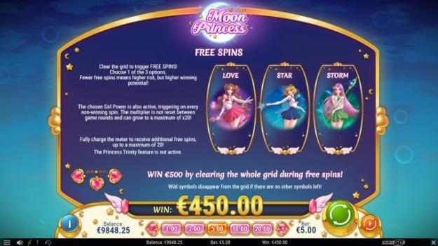 10 Free Spins (No Deposit) to Moon Princess Casino Slot at Multilotto