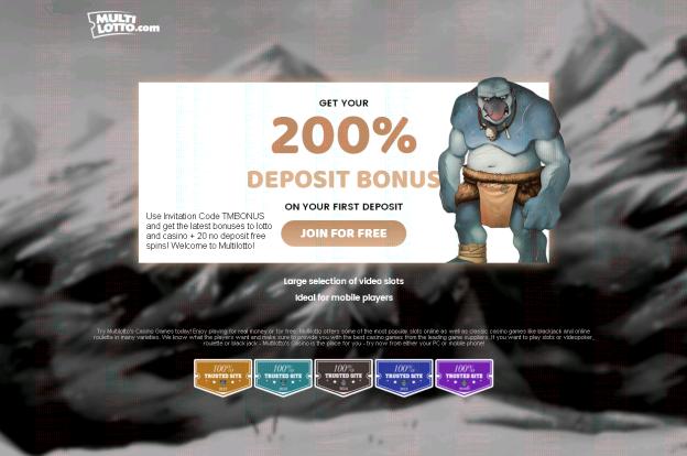 Multilotto Invitation Code, Deposit Bonus and Free Spins
