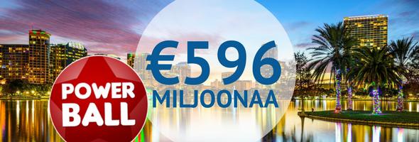 Powerball jättipotti 596 miljoonaa euroa - Osallistu ja voita riskittömästi