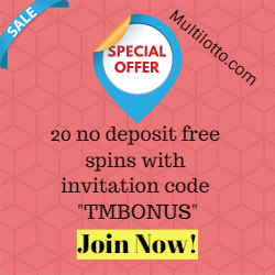 Multilotto 20 No Deposit Free Spins to Casino