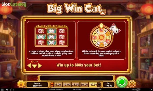 60 Free Spins to New Casino Slot Big Win Cat