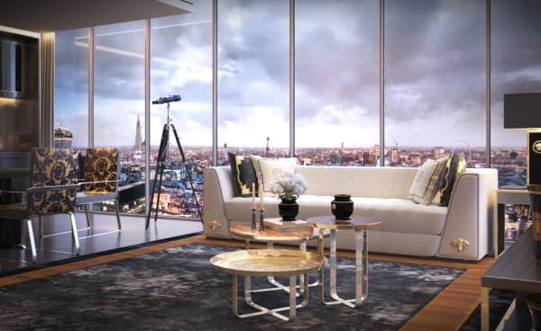 Versace Tower to open in London, with apartments worth up to £13.500.000