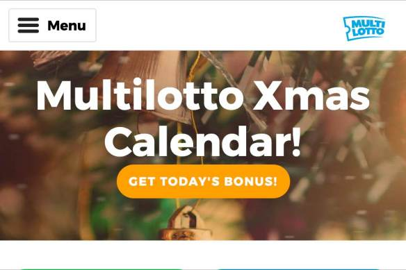 Casino Christmas Calendar - Day 4-24 - Cashback to £€20 From Any Lotto