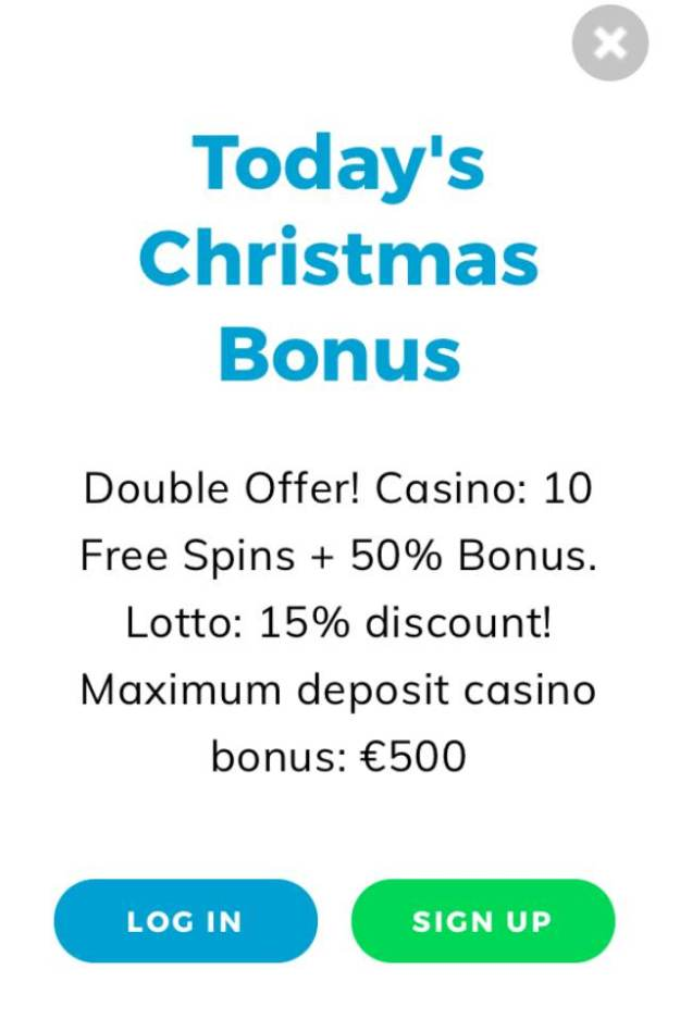 Casino Christmas Calendar - Day 5-24 - 10 Free Spins, 50% Casino Bonus, 15% Lotto Discount