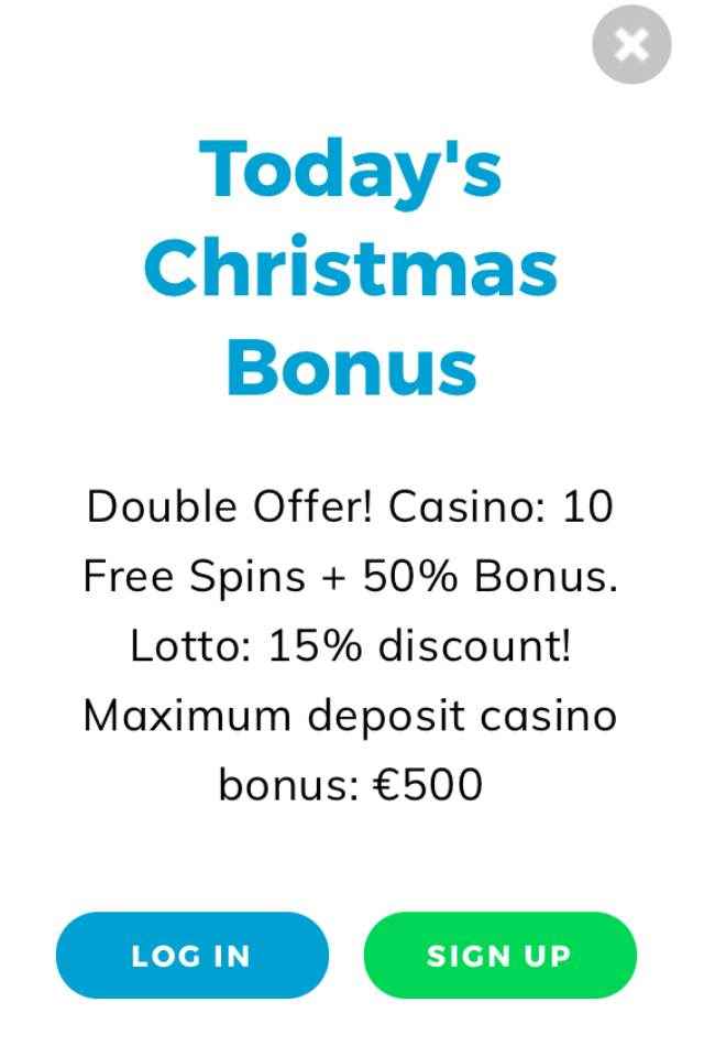Casino Christmas Calendar - Day 5-24 - 10 Free Spins, 50% Casino Bonus, 15% Lotto Discount