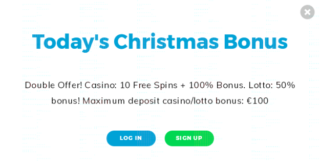 Casino Christmas Bonus Day 1