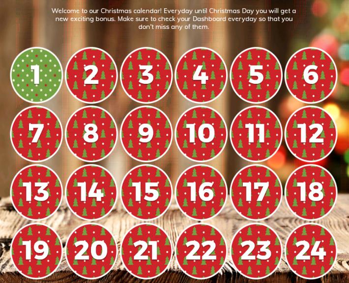 Multilotto Casino Christmas Calendar 2017