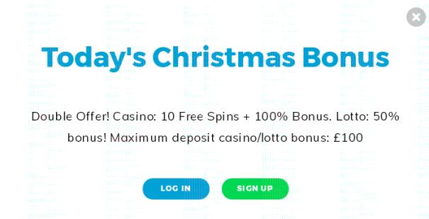 Multilotto Casino Christmas Calendar UK 2017