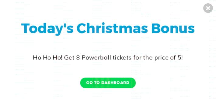 Multilotto Christmas Calendar Day 2 Offer - Buy 5 Powerball Tickets, Get 8