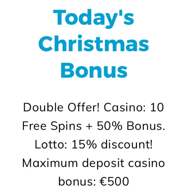 Casino & Lotto Christmas Calendar Day 5/24. DOUBLE bonus! Free spins and 50% bonus to Casino, and 15% discount from any lottery. Still no Multilotto.com account? Register for free and use invitation code: TMBONUS to get our exclusive bonuses and free spins to your use! #offers #christmascalendar #casino #betting #london #christmas #uk #ucl #epl #bettingtips #travel #berlin #paris #metoo #gift