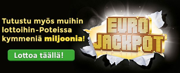 Eurojackpot 25 ilmaista kuponkia Multilotto bonuskoodilla