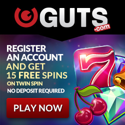 Guts No Deposit Free spins on Twin Spin