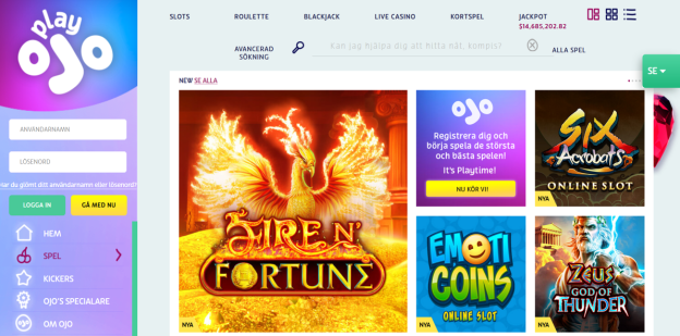 PlayOJO Casino enters Sweden and offers a special bonus
