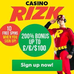 Rizk Casino No Deposit Free Spins and Deposit Bonus