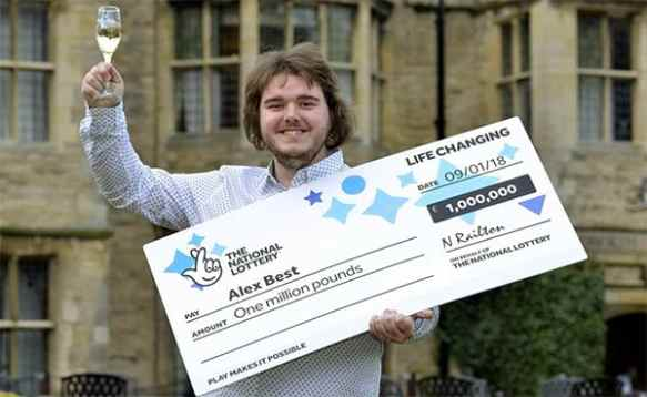 21-year-old to get a driver's license after £1.000.000 Euromillions victory