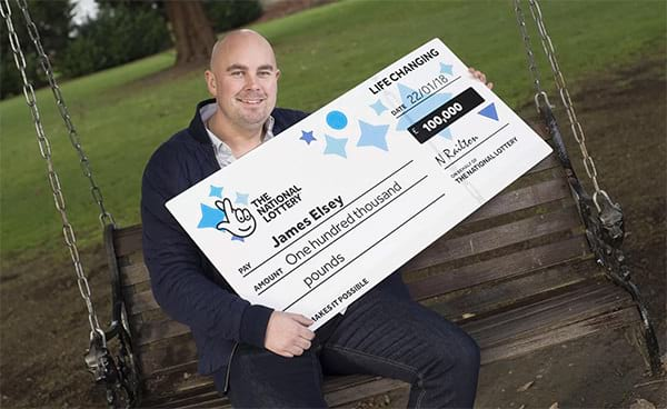 Carpenter takes a day off to contemplate his £100.000 win